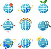 Globe icons set Royalty Free Stock Image