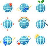 Globe icons set Royalty Free Stock Image