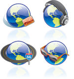 The Globe Icons Set - Design Elements 54b. It's a high resolution image with CLIPPING PATH for easy remove unwanted shadows underneath Royalty Free Stock Photo