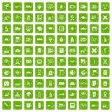 100 globe icons set grunge green. 100 globe icons set in grunge style green color isolated on white background vector illustration Royalty Free Stock Photography