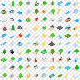 100 globe icons set, isometric 3d style. 100 globe icons set in isometric 3d style for any design vector illustration Royalty Free Stock Image