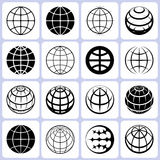 Globe Icons Set Stock Images
