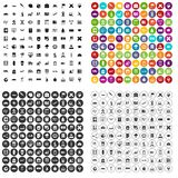 100 globe icons set variant. 100 globe icons set in 4 variant for any web design isolated on white Stock Illustration