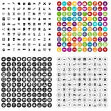 100 globe icons set vector variant. 100 globe icons set vector in 4 variant for any web design isolated on white Royalty Free Stock Images
