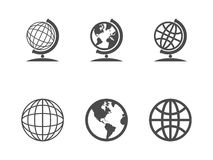 Globe icons. Vector illustration. This is file of EPS10 format Stock Photo