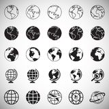 Globe icons on white background for graphic and web design, Modern simple vector sign. Internet concept. Trendy symbol for website vector illustration