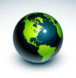 Globe illustration Royalty Free Stock Photography