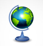 Globe illustration Stock Photography