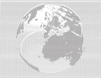 Globe. Illustration in ASCII-Art Royalty Free Stock Photos