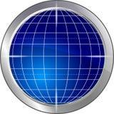 Globe. Illustration: blue globe. globe Stock Photography