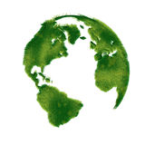 Globe illustration covered with grass. Royalty Free Stock Photography