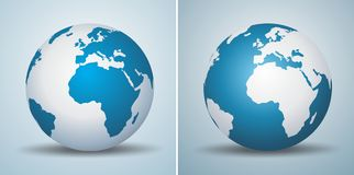 Globe logo. S in different options Stock Photos