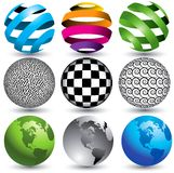 Globe illustration set Royalty Free Stock Photo