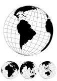 Globe illustration of the World Royalty Free Stock Photos