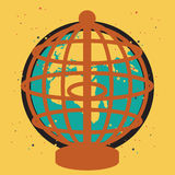 Globe imprisoned. Concept of values and beliefs that hinder people to achieve peace Stock Image