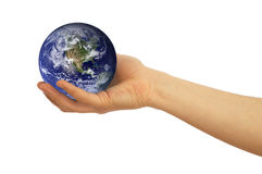 Globe In Hand Royalty Free Stock Images