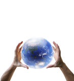 Globe In The Hands Royalty Free Stock Image