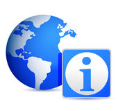 Globe info illustration design Royalty Free Stock Photos