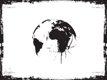 Globe ink splatter vector illustration. Stock Image