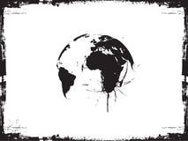 Globe ink splatter vector illustration. A Globe ink splatter vector illustration Stock Image