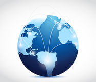 Globe international connection concept Stock Photography