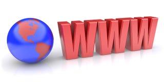 Globe internet Stock Photography
