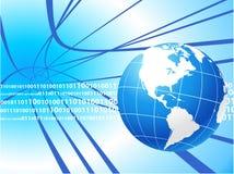 Globe on internet background Stock Image