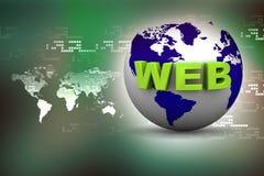 Globe internet concept Stock Photos