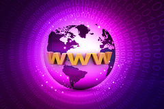 Globe internet concept. On abstract background Stock Illustration