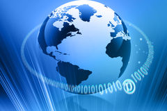 Globe internet. Concept on abstract background Stock Illustration