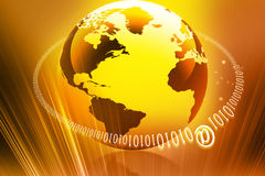 Globe internet. Concept on abstract background Vector Illustration