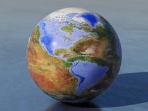 Globe inversé de la terre, Amériques illustration de vecteur