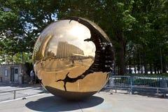 Globe of iron as Piece of Art Royalty Free Stock Photos