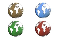 The globe isolated. Element of this image furnished by Nasa. 3D. Illustration Stock Images