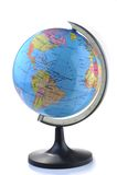 Globe isolated on white Stock Photo