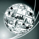 A globe is business people Royalty Free Stock Images