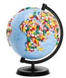 Globe isolated on white Royalty Free Stock Photography