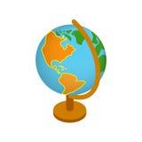 Globe isometric 3d icon Stock Image