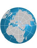globe Israël de centerd Photographie stock