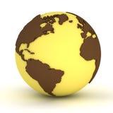 Globe jaune Photographie stock libre de droits
