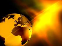 Globe jaune Image libre de droits