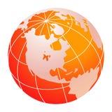 Globe jaune du monde Photos stock