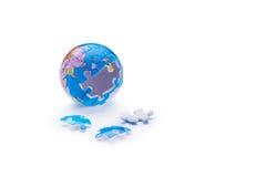 Globe jigsaw puzzle Royalty Free Stock Photos