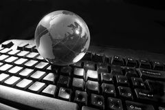 Globe and keyboard Royalty Free Stock Images