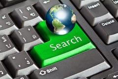 Globe and keyboard Stock Image