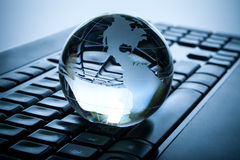 Globe and keyboard Royalty Free Stock Image