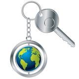 Globe keyholder Royalty Free Stock Image