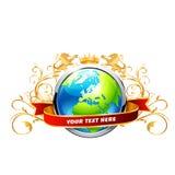 Globe with king vector Stock Photos