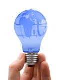Globe in lamp Stock Photos