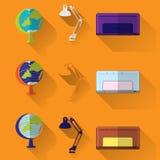 Globe lamp printer,icons concept. vector illustration